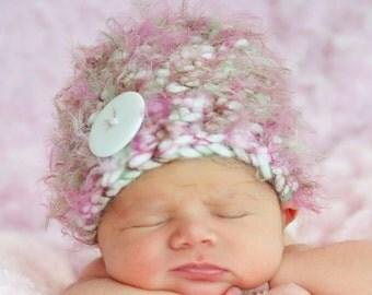Fluffy Cotton Candy Newborn Baby Beanie Hat