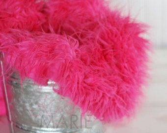 Hot Pink Mongolian Faux Fur Photography Prop Rug Newborn Baby Toddler 27x20
