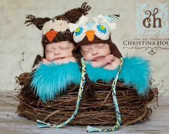 TWIN SIZE, Wood Branch Nest, Owl Nest, Bird Nest, Newborn Nest, Newborn Photography, Baby Photography, Photo Prop