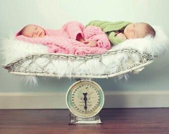 White Mongolian Faux Fur Rug Nest Photography Photo Prop 27x20 Newborn Baby Toddler Mat Backdrop Floordrop