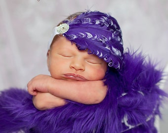 Purple Mongolian Faux Fur Rug Nest Photography Photo Prop 20x13 Newborn Baby Toddler