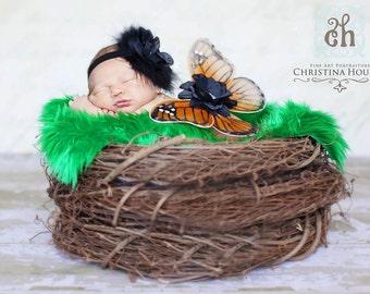 Wood Branch Nest, Owl Nest, Bird Nest, Newborn Nest, Newborn Photography, Baby Photography, Photo Prop