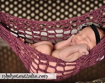 Newborn Baby Hammock Pod Photo Prop Purple