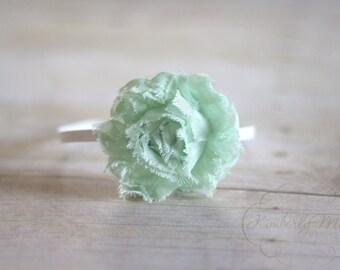 Mint Green Chiffon Rosette Flower Headband