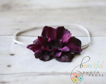 Purple Vintage Inspired Flower Headband