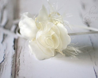 Fairy Flower Headband in Cream
