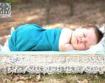 Aqua Blue Gauze Wrap Newborn Baby Photography Prop