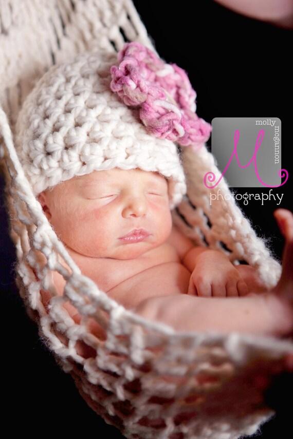 Newborn Cherry Blossom Hammock and Hat Set