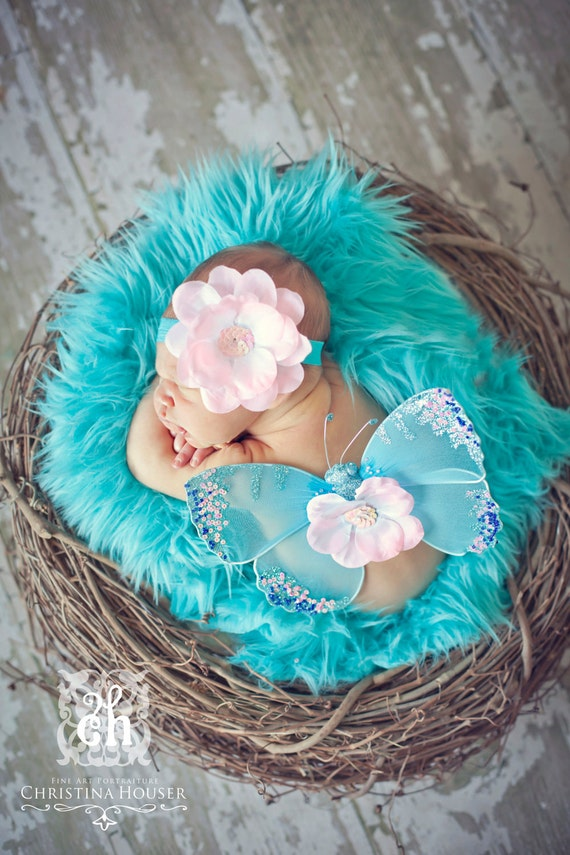 Aqua Blue Fur, Mongolian Faux Fur, Fur Blanket, Photography Prop, Faux Fur Rug, Newborn Fur, Newborn Photography, Photography Prop, 27x20
