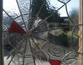 SALE - - Stained Glass Spider Web Rose