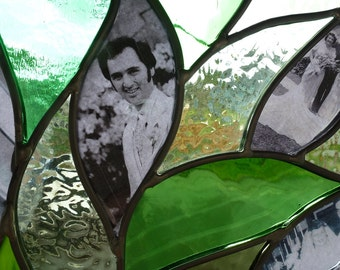 Stained Glass Window - Family Tree - Panel Suncatcher