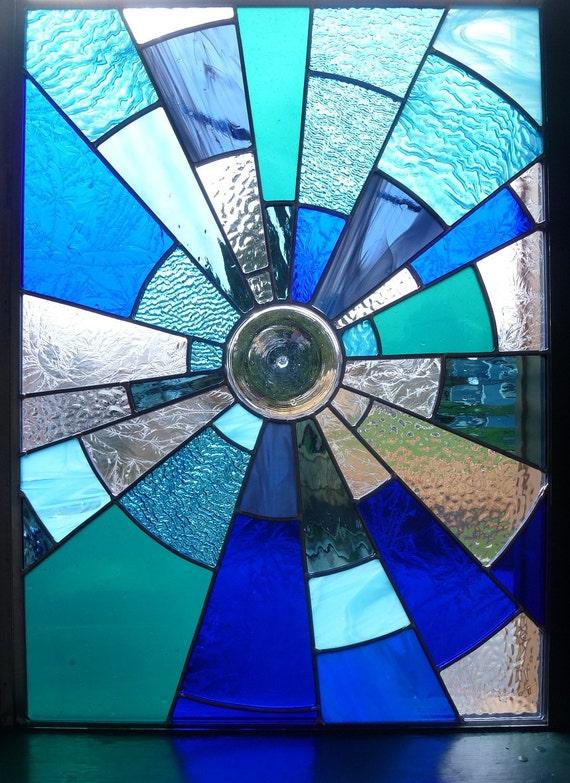 Stained Glass Panel - Midnight - Suncatcher Window