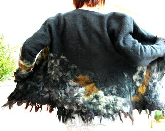 hand felted coat 'mountain'