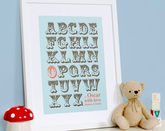 Custom Alphabet Print