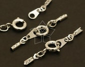 CS-027-OR / 20 Set - SR Clasp with Crimp Cord Ends, Silver Plated over Brass