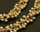 CH-074-GD / 20 cm - Chain Mini CCB Ball Charms, Gold Plated / 3.8mm dia.