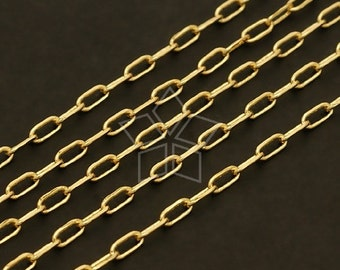 CH-056-GD / 3 meter - Chain 245-4DC, Gold Plated over Brass / 1.7mm