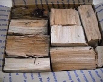 Apple wood chunks grilling bbq smoking 12 pounds smoker black cherry chips
