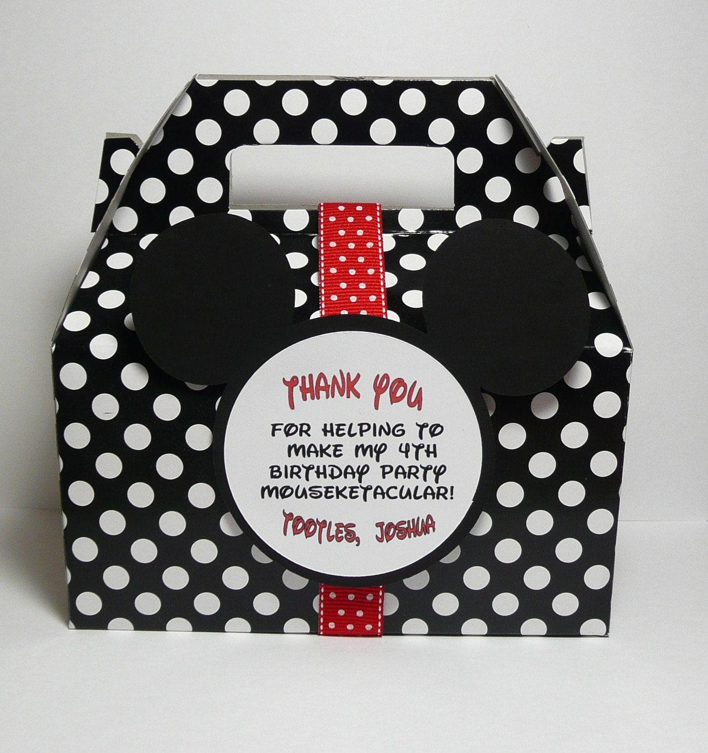 Mickey Mouse Party Favor Box Set of 12 by PocketFullofGlitter
