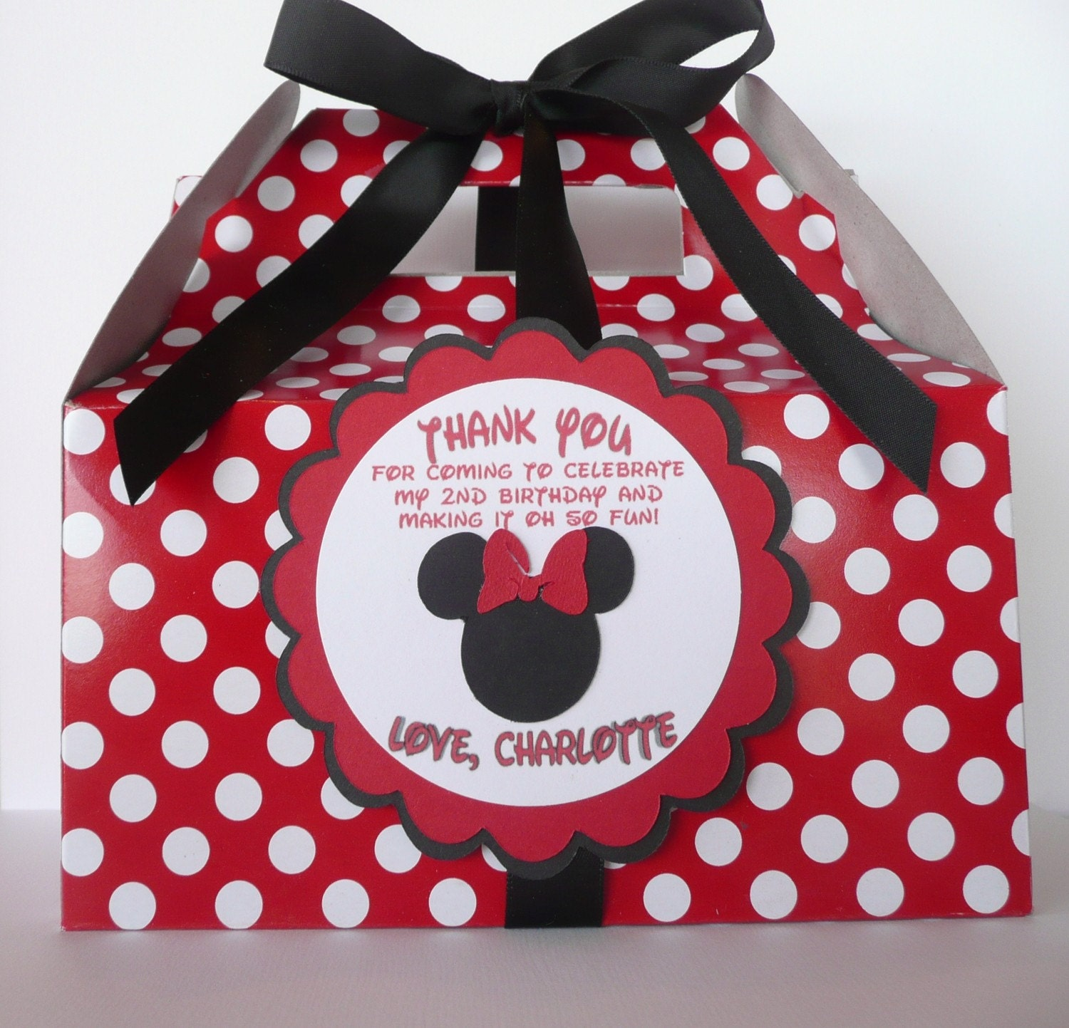 Red Minnie Mouse Party Supplies Minnie mouse red & black