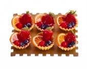 assorted mini fruit tarts  dollhouse miniature