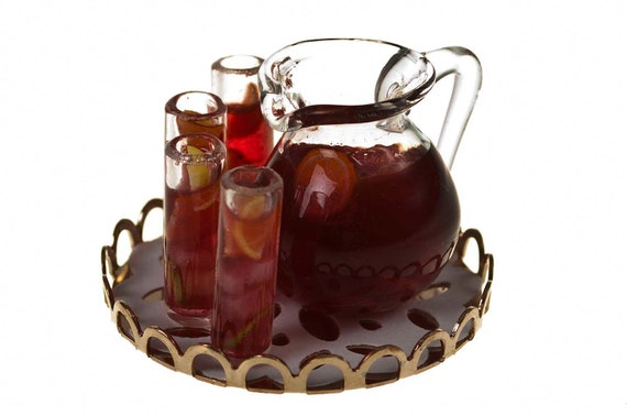 fruit punch drink set miniature food