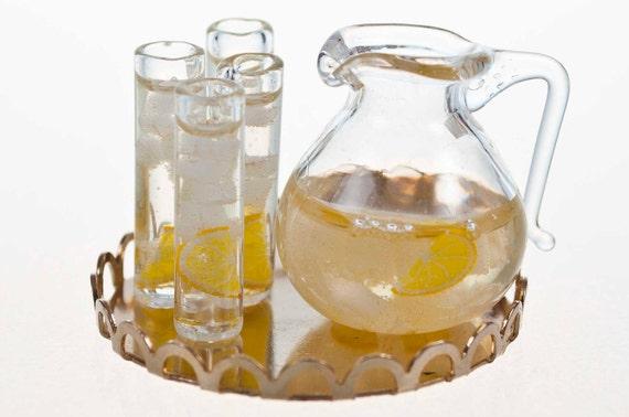 ice water drink set miniature food