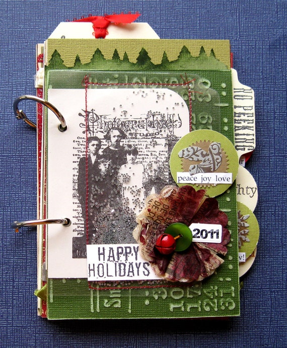 craft journal ideas items similar to happy holidays journal 1578
