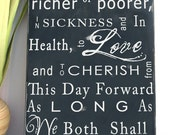 CUSTOM WEDDING VOWS - Typography Word Art Sign