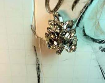Signed Weiss Rhinestone Clip-on earrings Apparel & Accessories Jewelry Vintage Jewelry Earrings Clip On Rhinestone