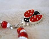 Red Ladybug Baby/Toddler/Child Charm Bracelet or Anklet