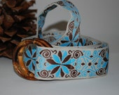 Nantucket Blue and Brown Ribbon Belt