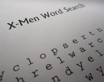 X-Men Word Search and Find Digital pdf