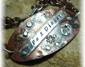 Reserved - Medical ID Alert Bracelet Sterling Silver and Rustic Flame Kissed Pure Copper With Your Condition and/or Allergies - Handmade