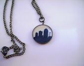Hand Drawn Necklace- Des Moines Skyline