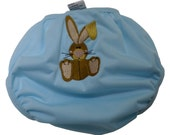 Bunny Embroidered Waterproof Cloth Diaper Cover - Large