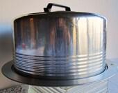 Vintage Cake Carrier Aluminum Handle Regal Ware