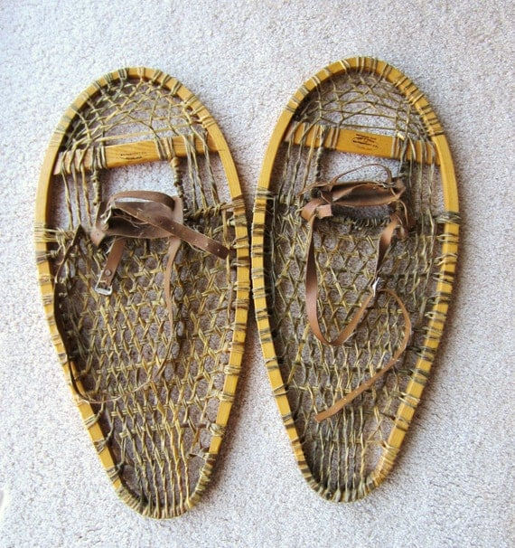 Vintage Snowshoes, Northwoods Brand, Made in Canada