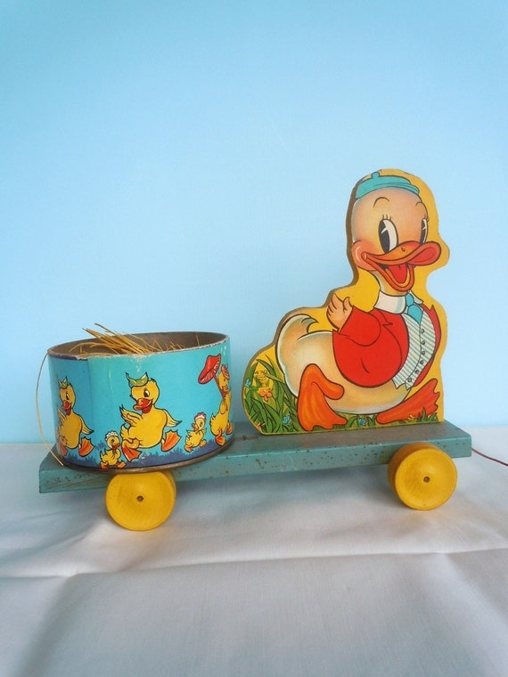 Fisher Price Duck Pull Toy 1946 Made Only For Easter 1946