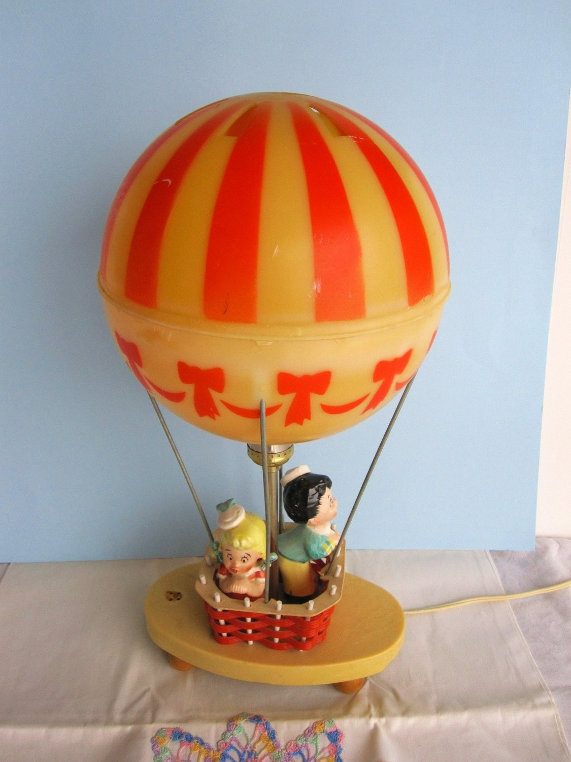 reserved for katarina vintage lamp hot air balloon dolly toy. Black Bedroom Furniture Sets. Home Design Ideas