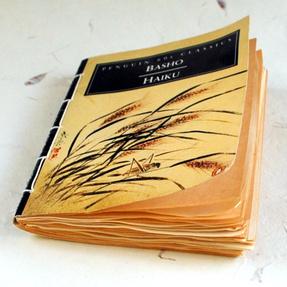 Haiku poetry journal vintage recycled