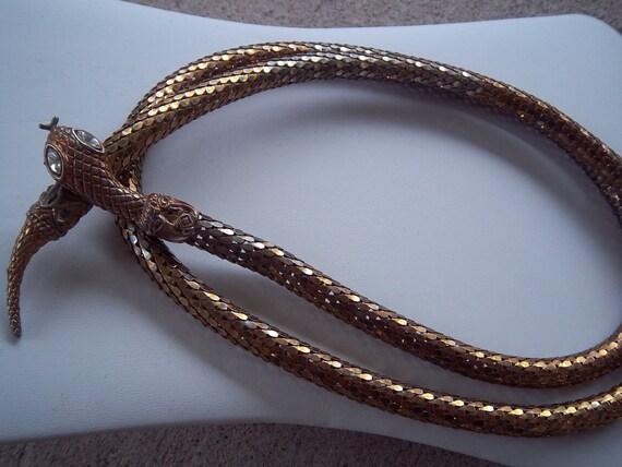 Whiting & Davis Snake Skin Ladies Belt
