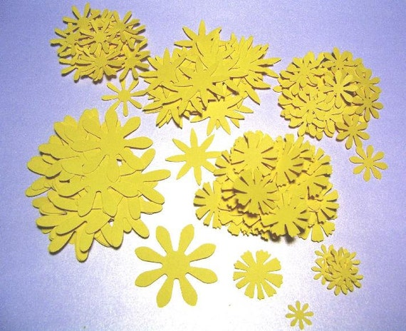 200 pc Yellow Asstd Flowers or choose another color