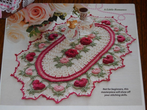 Crochet Thread Rose Pattern Free : Rose Parade Doily Pattern Thread Crochet Cotton 10 by ...