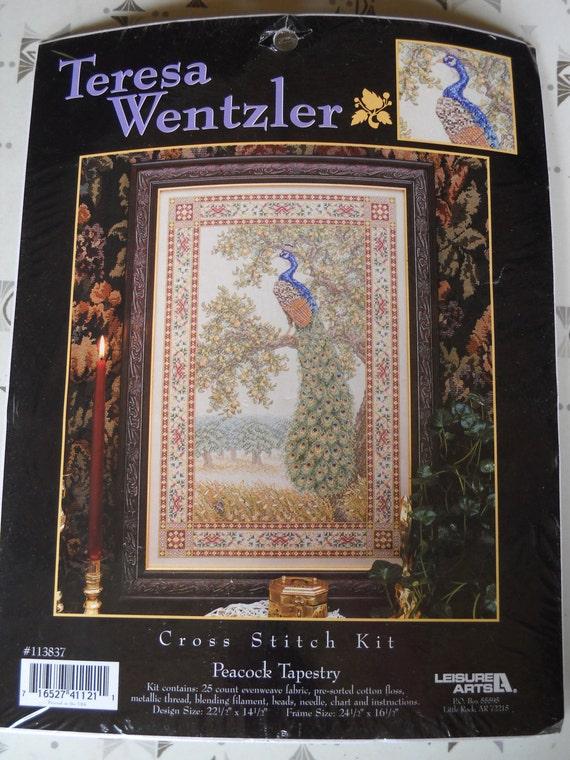 Teresa Wentzler Cross Stitch Kit Peacock Tapestry Leisure Arts