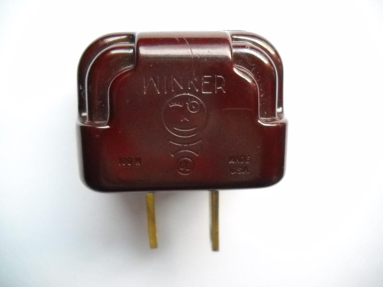 Vintage Winker Plug Flasher Blinker Bakelite For Christmas