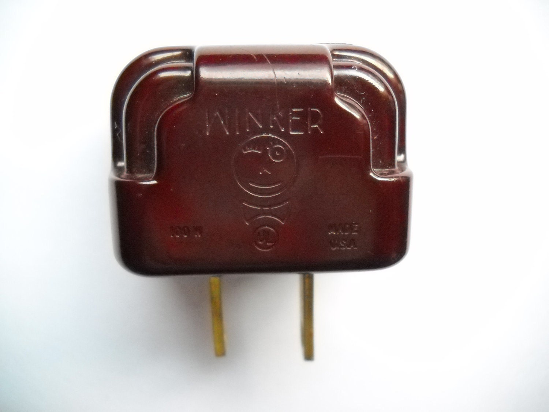 Vintage Winker Plug Flasher Blinker Bakelite for by TammyMadeIt