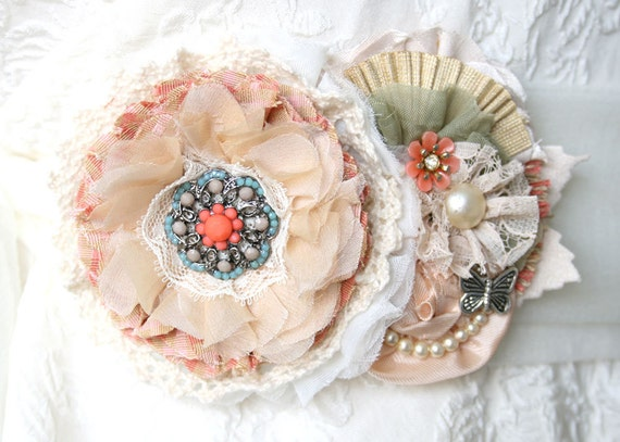 Unique Wedding Dress Sashes Belts: Wedding Dress Sash Belt Bridal Sash In Coral Turquoise