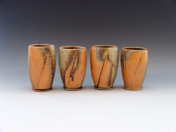 Set of Wood Fired Tumblers- 12 oz.