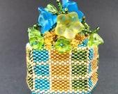 Beaded Box Jeweled Flowers